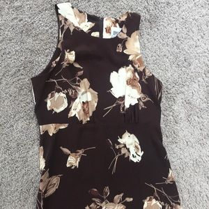 Byer California Dresses - Vintage Floral Print Dress